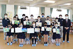 表彰の様子・豊浦小学校