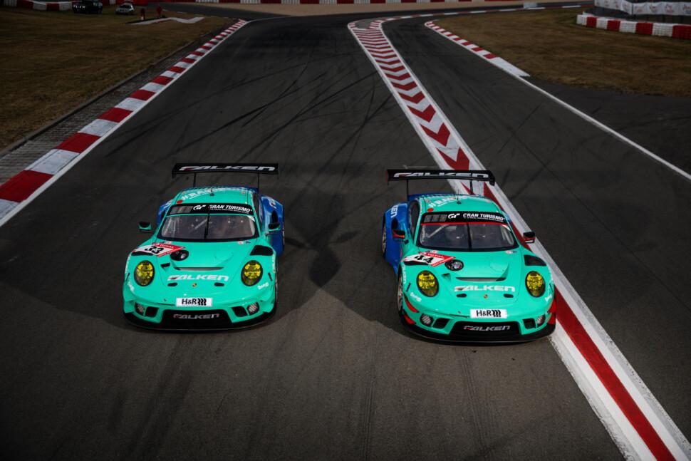 ファルケンカラーの「Porsche 911 GT3R」
