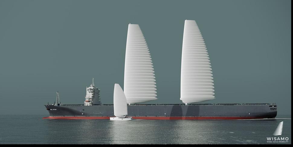 帆船に搭載されたウィザモ イメージ