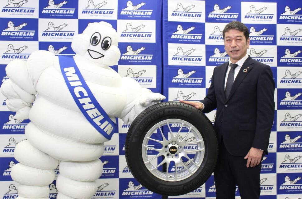 ミシュランマンと須藤社長