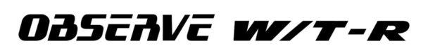 オブザーブW/T―Rロゴ
