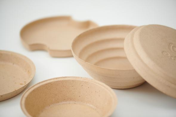 食品廃材を使用した循環型食器edish