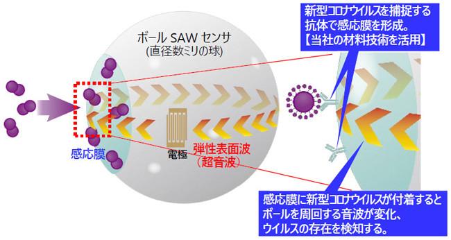 開発中のウイルスセンサ