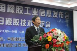中国ゴム産業の発展戦略を発表する范仁德会長